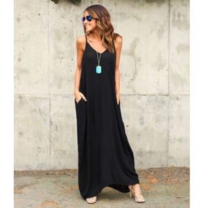 ➕Boho Summer Maxi Dress Beach Sundress Party